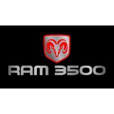 Dodge RAM 3500 License Plate on Black Steel