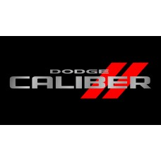 Dodge Caliber License Plate on Black Steel