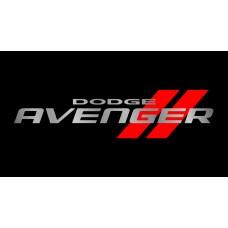 Dodge Avenger License Plate on Black Steel