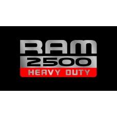Dodge RAM 2500 Heavy Duty License Plate on Black Steel