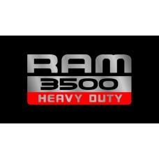 Dodge RAM 3500 Heavy Duty License Plate on Black Steel