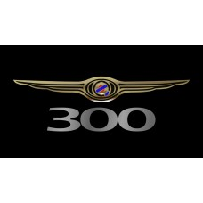 Chrysler 300 License Plate on Black Steel