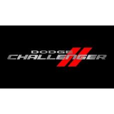 Dodge Challenger License Plate on Black Steel
