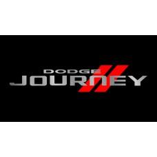 Dodge Journey License Plate on Black Steel
