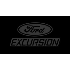 Ford Excursion License Plate on Black Steel