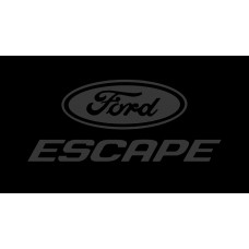 Ford Escape License Plate on Black Steel
