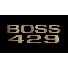 Ford Boss 429 License Plate on Black Steel