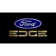 Ford Edge License Plate on Black Steel