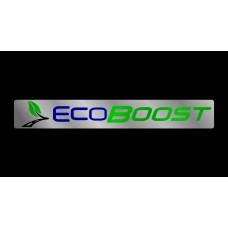 Ford EcoBoost License Plate on Black Steel