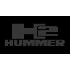 Hummer H2 License Plate on Black Steel