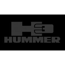 Hummer H3 License Plate on Black Steel