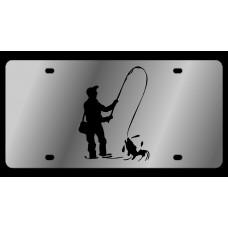 Fisherman Stainless Steel License Plate
