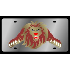 Lion Stainless Steel License Plate