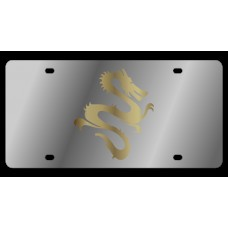 Dragon Stainless Steel License Plate