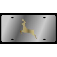 Deer Stainless Steel License Plate