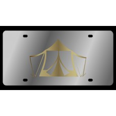 Tent Stainless Steel License Plate