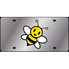 Lil Bumble Bee Stainless Steel License Plate