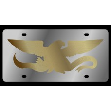 Proud Eagle Stainless Steel License Plate