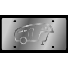 Camper Stainless Steel License Plate