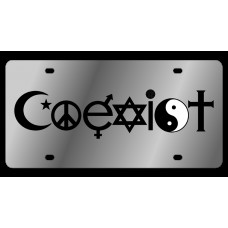 Coexist Stainless Steel License Plate