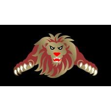Lion License Plate on Black Steel