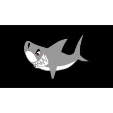 Shark License Plate on Black Steel