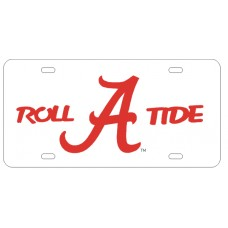 ROLL FLYING A TIDE - White License Plate