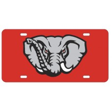 ELEPHANT HEAD - Red License Plate