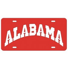 ALABAMA ARCHED - Red License Plate
