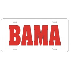 BAMA - White License Plate