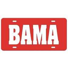 BAMA - Red License Plate