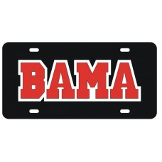 BAMA - Black License Plate