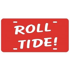 ROLL TIDE - Red License Plate