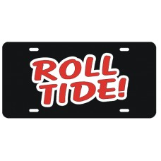 ROLL TIDE - Black License Plate