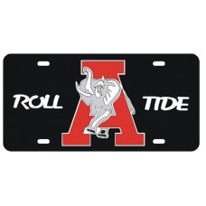 ROLL A ELEPHANT TIDE - Black License Plate