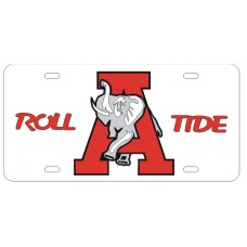 ROLL A ELEPHANT TIDE - White License Plate