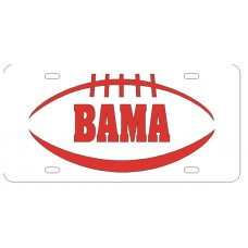 PIGSKIN BAMA - White License Plate