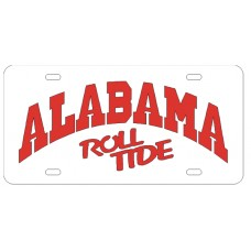 ALABAMA ARCHED ROLLTIDE - White License Plate