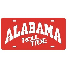 ALABAMA ARCHED ROLLTIDE - Red License Plate