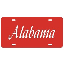 ALABAMA SCRIPT - Red License Plate