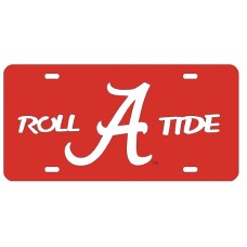ROLL FLYING A TIDE - Red License Plate