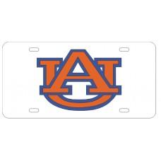 AU INTERLOCK WHTIE- License Plate