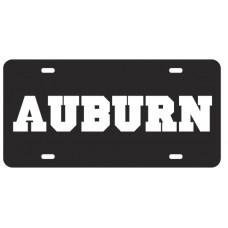 AUBURN BLOCK BLACK - License Plate