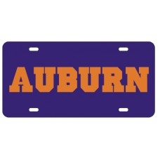 AUBURN BLOCK BLUE - License Plate