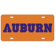 AUBURN BLOCK ORANGE - License Plate