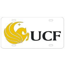 PEGASUS UCF WHITE - License Plate