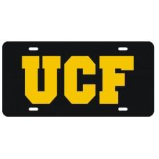 UCF BLACK- License Plate