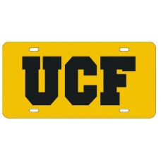 UCF YELLOW- License Plate