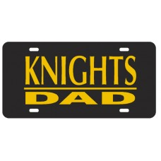 KNIGHTS DAD BAR BLACK- License Plate