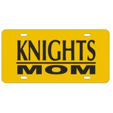 KNIGHTS MOM BAR YELLOW - License Plate